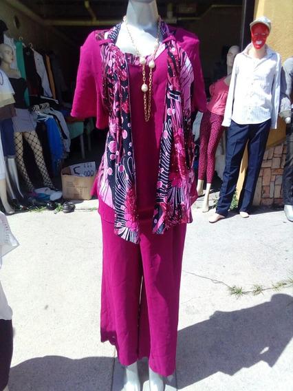 Remat: Conjuntos Dama Blusa Y Pantalón. 3xl. Importa 10verd