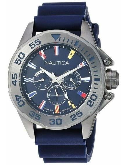 Relógio Nautica Masculino Miami Flags- Napmia008 2 Pulseiras