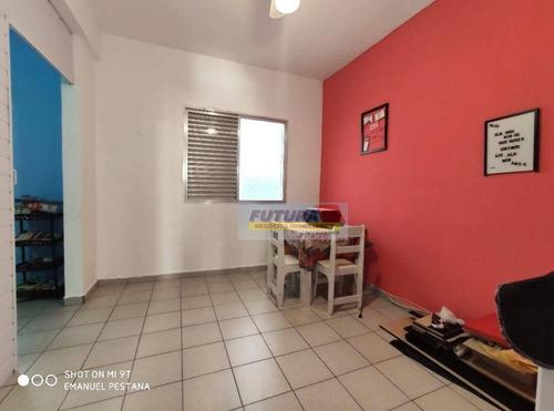 Imagem 1 de 16 de Sala Living Revertido Em Um Dormitório - Vila Guilhermina, Praia Grande. - St0191