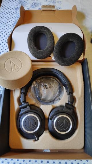 Headphone Audio Technica M50x Completo Na Caixa Earpad Extra