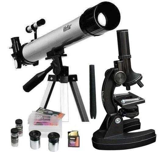 Kit Telescópio Microscópio 120x Vivtelmic30 Vivitar Envio24h