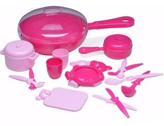 Juguete Sartén De Cocina Para Nena 16 Accesorios Roma