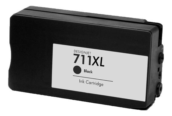 Cartucho De Tinta Compatível Hp 711 Preto Cz133a | T520 T120