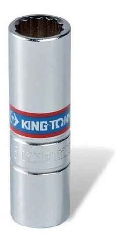 Imagem 1 de 2 de Soquete De Vela 14mm Encaixe 3/8 Para Motocicletas King Tony