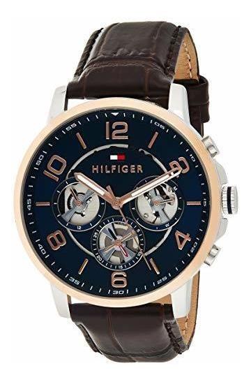 Reloj Tommy Hilfiger Para Hombres Correa Piel 1791290