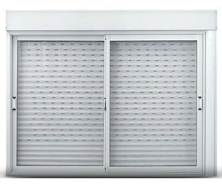 Ventana Aluminio Oblak Cortina Pvc Cajón Compacto 150x150 Cm