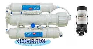 Purificador De Água Osmose Reversa Compacta Ro3-50g C Bomba