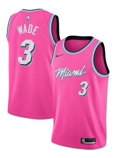 Camisa De Basquete Nike Nba Miami Heat Vice Pink