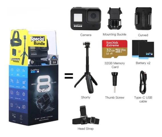 Gopro Hero8 Black Combo Bundle + Card 32gb + 2 Baterias