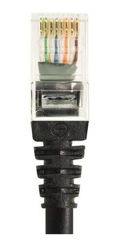 Imagem 1 de 2 de Kit Patch Cord Cat6 Preto 10mts + 1,5mts + 20 Cm