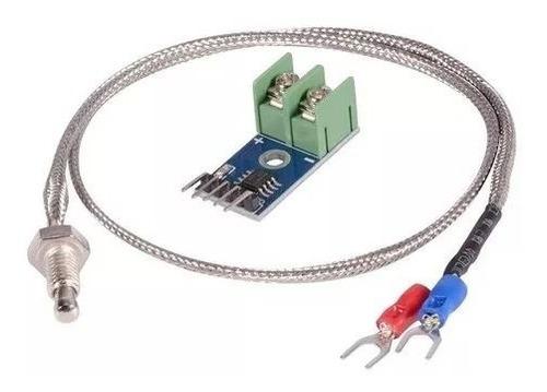 Imagen 1 de 3 de Termopar Tipo K + Modulo Max6675 Sensor De Temperatura Arduino Pic