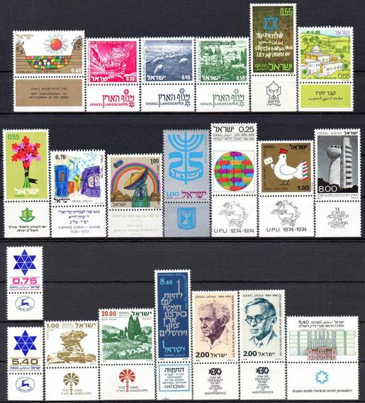 Israel - Acumulação Com 21 Selos - 1971 A 1978 - C/tab