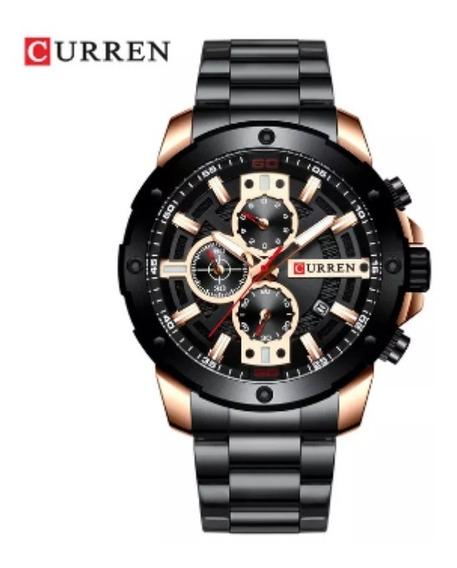 Relógio Masculino Curren 8336 Aço Inoxidável Prova Dágua