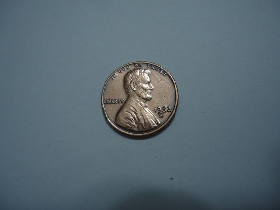 Moeda Bronze 1 Um One Cent Centavo Dolar 1982 D Usa America