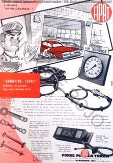 Antiguo Folleto Fipat Medidor Presión Neumático Auto Años 60