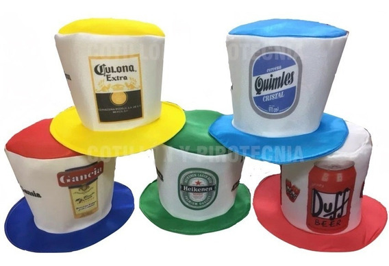 Galera Cerveza X1 Gorros Tela Galeron Carioca Sombrero
