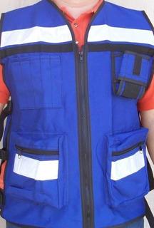 Chaleco Ingeniero Proteccion Paramedico Seguridad Vial