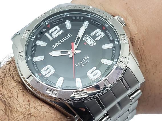 Relógio Masculino Seculus 23675g0svna1 Garantia 2 Anos