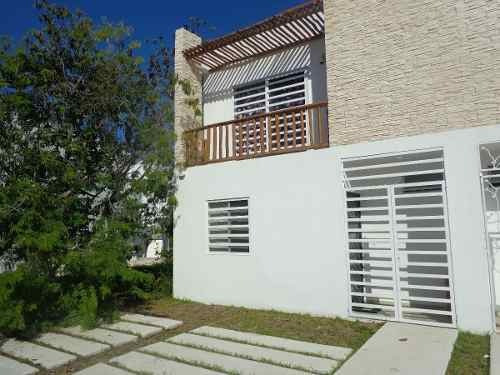 Casa En Renta Completamente Amueblada En Palma Grand En Puerto Morelos