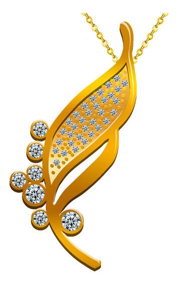 Regalo Mamá 10 Mayo Día Madres Collar Aretes Oro Swarovski E