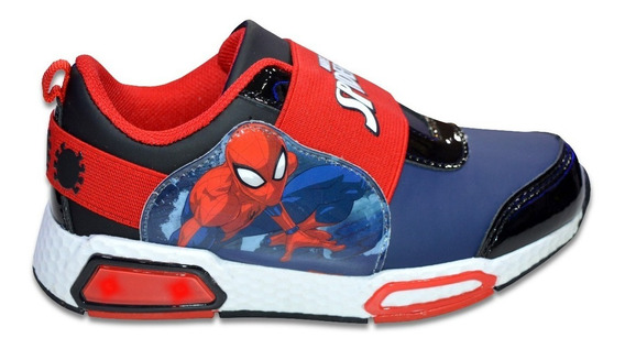 Zapatillas Marvel Hombre Araña Spiderman Niño Luces