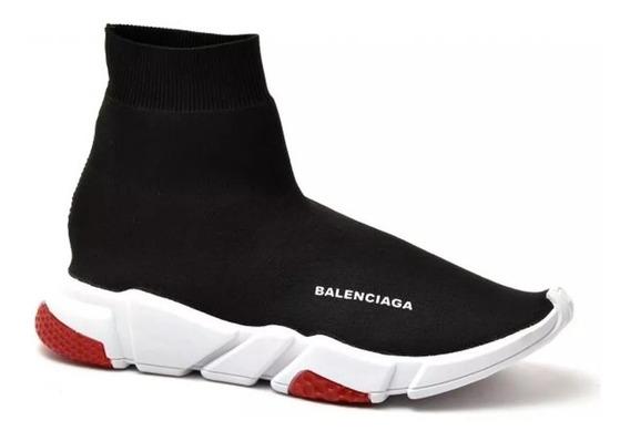 Tênis Balenciaga Speed Cano Longo Detalhe Com Sola Vermelha