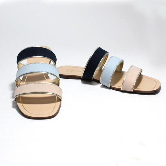 Sapato Rasteira Rasteirinha Feminina Colorida Capodarte Luxo