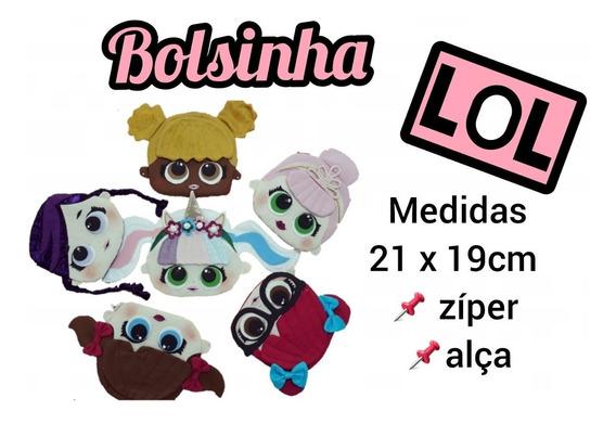 Kit 10 Unid - Bolsinha Lol - Com Zíper
