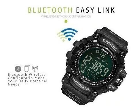 Relógio Smael Bluetooth Prova D´água / Com Caixa / Original
