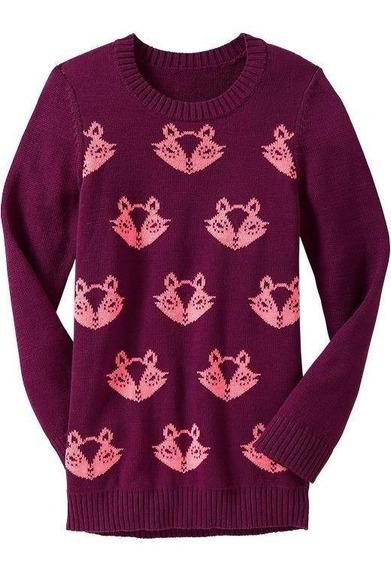 Sweater Old Navy Niña Ardillas Talle 10 Importado Usa - 3595