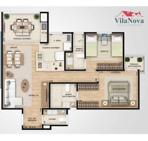 Apartamento Com 2 Dormitórios À Venda, 82 M² Por R$ 550.000,00 - Condomínio Sky Towers - Indaiatuba/sp - Ap2715