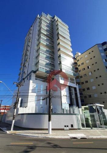 Apartamento Com 2 Dormitórios À Venda, 80 M² Por R$ 499.000 - Vila Caiçara - Praia Grande/sp - Ap3362