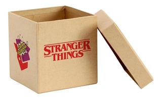 Caixa Surpresa Stranger Things 5 Itens Caixa Madeira
