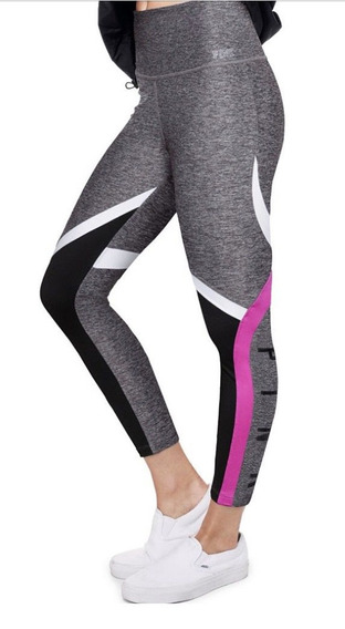 Calzas Leggings Ultimate Gris Fucsia S Pink Victorias Secret