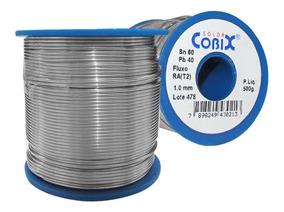 Fio Solda Estanho P Eletrônica 500gr 1mm Azul 60x40 Cobix