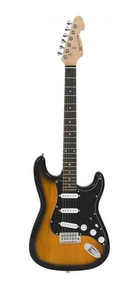 Guitarra Strato Michael Standard Gm217n Sk Sunburst Black