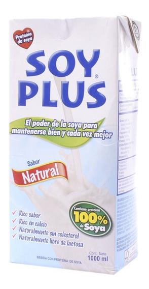 Leche De Soya Natural Soy Plus X 1000ml