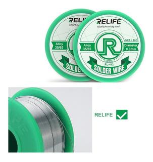 Rollo De Soldadura Relife Rl.442 0.6mm 80g Alta Calida