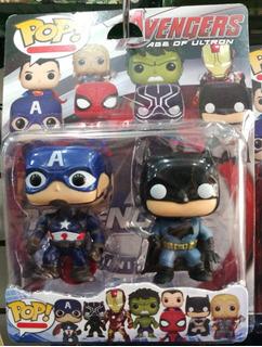 Muñecos Tipo Funko Pop Super Héroes Avengers Blister X2