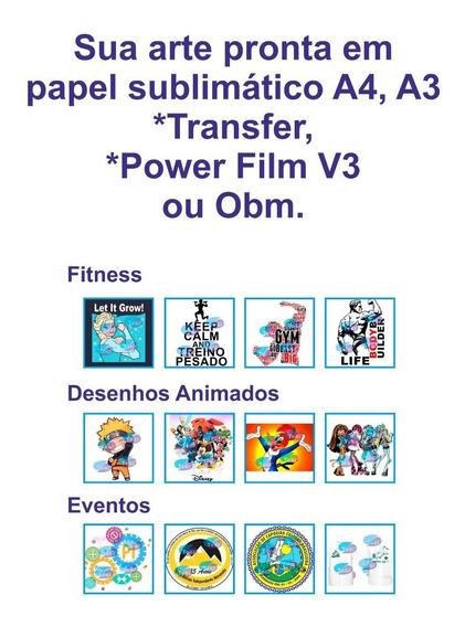 10 Estampas Impressas Papel Sublimatico Fundo Azul A4+