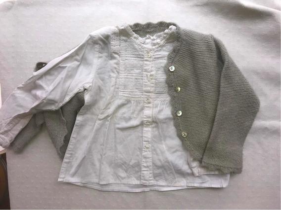 Conjunto Camisa Y Sweater 12-18meses
