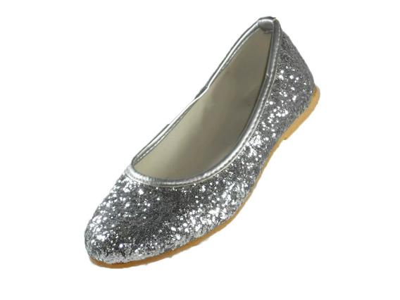 Chatita Pians Glitter Plateado Del 34 Al 40