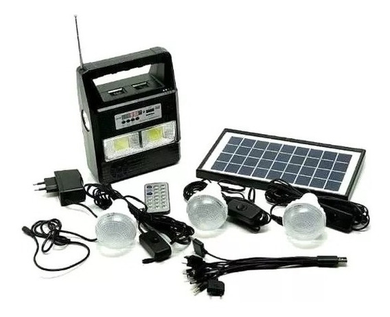 Kit Camping Luminária Lâmpada Gerador Solar Recarregável Us