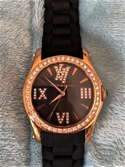 Relógio Victor Hugo Rosê Vh 10040 Com Swarovski