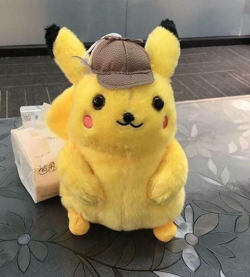 Detetive Pikachu O Filme Pelúcia 25 Cm