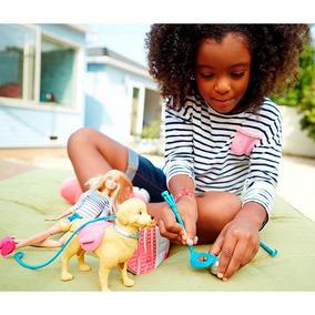 Playset Passeio Com Cachorro Pup Barbie Mattel Dwj68 + Nfe
