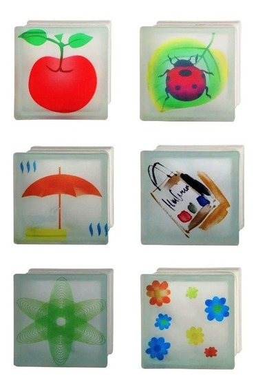 Ladrillos De Vidrio Vitroblock Con Diseños Satinados