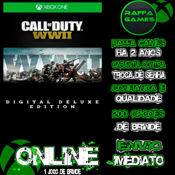 Call Of Duty Ww2 Deluxe Edition Xbox One Online + Brinde