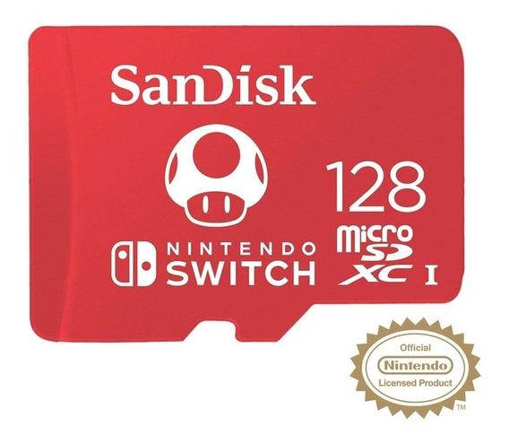 Cartão Sandisk Microsdx I 128 Gigas Original Nintendo Switch
