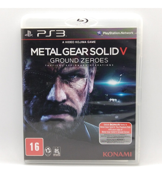 Metal Gear Solid V Ground Zeroes Ps3 Midia Fisica Portugues